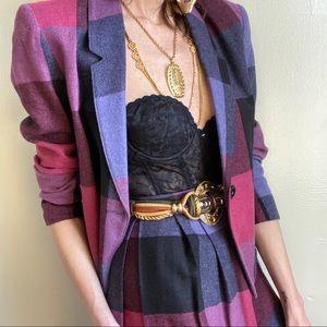 Vintage wool skirt and blazer set